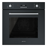 Smeg Cucina SF478N Built-in Multifunction Single Oven - 60cm - Black