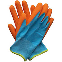 Junior Digger Garden Gloves - Blue & Orange
