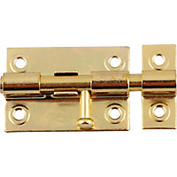 Straight Bolt - Brass Finish - 38mm