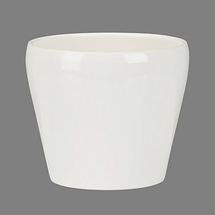Image for Glossy Indoor Pot - Cream - 11cm from StoreName