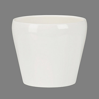 Image for Glossy Cream Indoor Plant Pot - 13cm from StoreName
