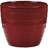 Dark Red Indoor Plant Pot - 16cm