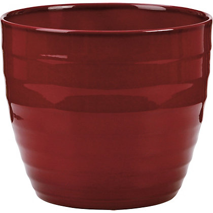 Image for Dark Red Indoor Plant Pot - 16cm from StoreName