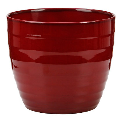 Image for Dark Red Indoor Plant Pot - 22cm from StoreName