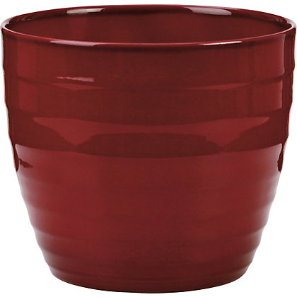 Image for Dark Red Indoor Plant Pot - 25cm from StoreName
