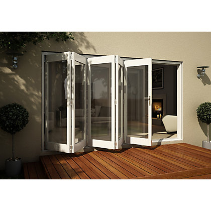 Image for Wellington White Folding Sliding Patio Doorset - 3605mm Wide from StoreName