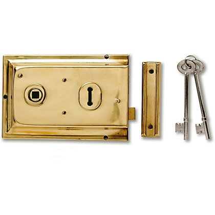 Image for Yale P334B Rim Lock Brass from StoreName