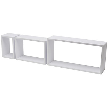 Image for Duraline Rectangular Triple Cube - White - 3 pieces from StoreName
