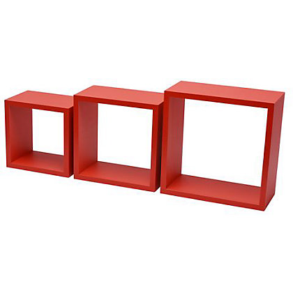Image for Duraline Triple Cube Storage - Red from StoreName