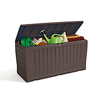 Keter Marvel Garden Storage Box - Brown / 270L