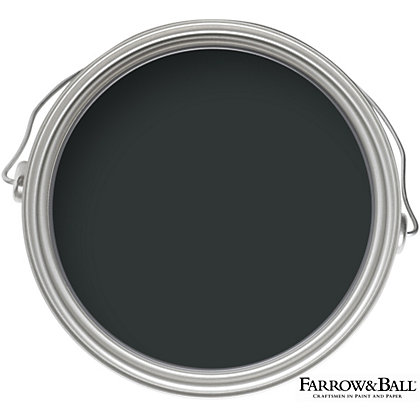 Image for Farrow & Ball Estate No.95 Black Blue - Matt Emulsion Paint - 2.5L from StoreName