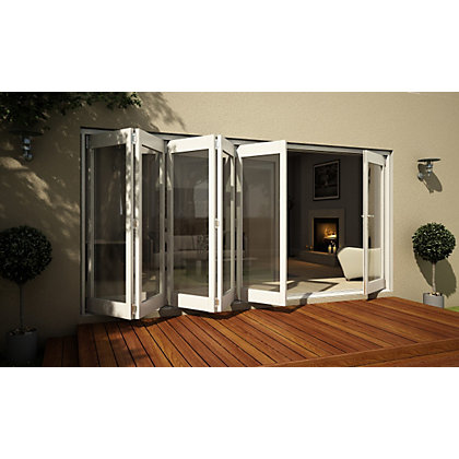 Image for Wellington White Folding Sliding Patio Doorset - 4205mm Wide from StoreName