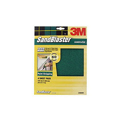 Image for 3M SandBlaster Coarse P60 Sandpaper - 4 pack from StoreName