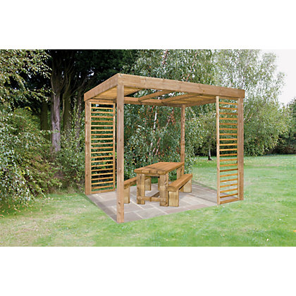 Image for Forest Dining Garden Pergola with Panels from StoreName