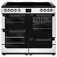 New World Vision 100E Electric Range Cooker - 100cm - Stainless Steel