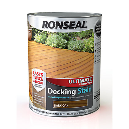 Image for Ronseal Ultimate Protection Decking Stain Dark Oak - 5L from StoreName