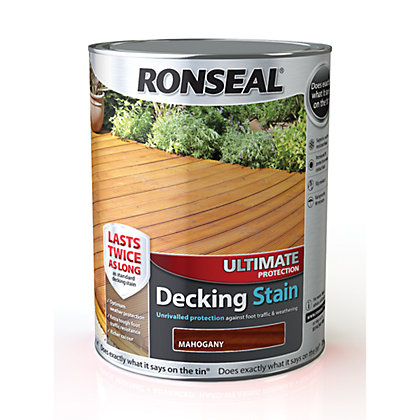 Image for Ronseal Ultimate Protection Decking Stain Rich Mahogany - 5L from StoreName