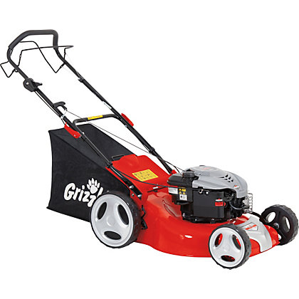 Image for Grizzly 190cc Rear Drive Petrol Lawn Mower - 51cm from StoreName