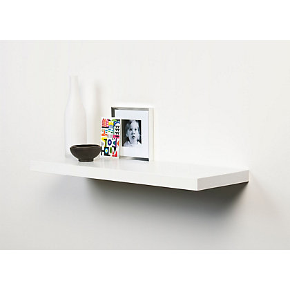 Image for Duraline Floating Shelf - White - 80cm from StoreName