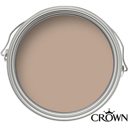 Image for Crown Fashion For Walls Walnut - Indulgence Matt Emulsion Paint - 2.5L from StoreName