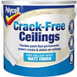 Polycell Crack Free Ceilings Matt Pure Brilliant White - 2.5L