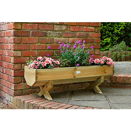 Image for Mini Wooden Garden Trough - 1.2m from StoreName