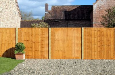 Standard Featheredge Panel - 1.83m x 1.2m - Pack of 4.