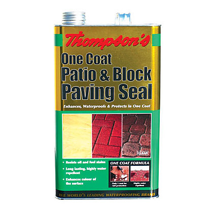 Image for Thompsons Clear One Coat Patio and Block Paving Seal - 5L from StoreName