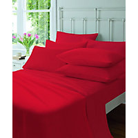 Flannelette Red Pair of Pillowcases.
