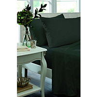 Percale Non Iron Black Pair of Housewife Pillowcases.