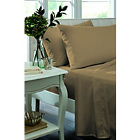 Percale Non Iron Caramel Pair of Housewife Pillowcases.