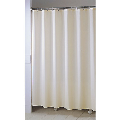 Image for Shower Curtain - Plain Ivory from StoreName