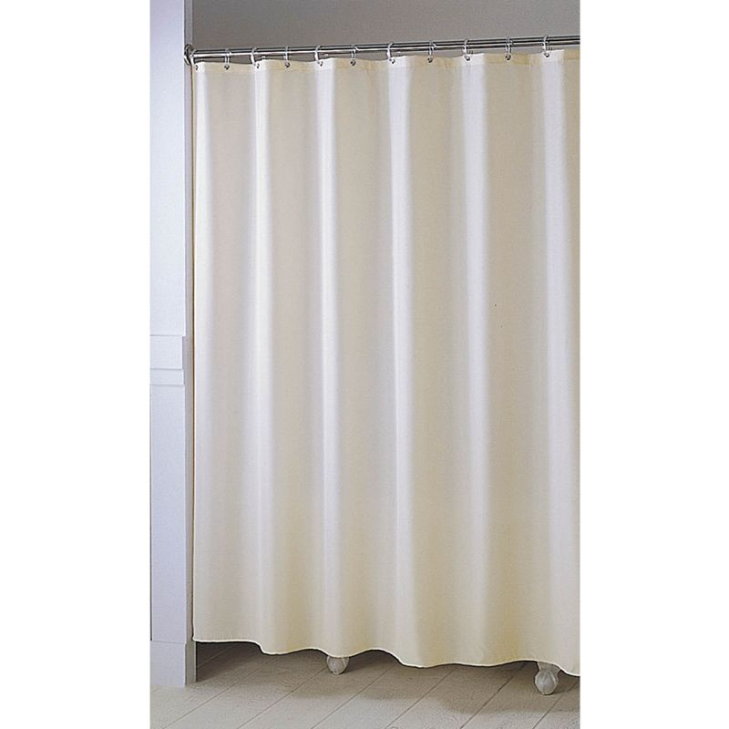 shower curtain plain ivory