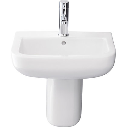 Image for Phase Basin and Semi Pedestal - White from StoreName
