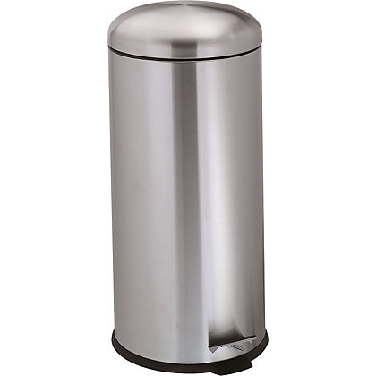 Image for Pedal Bin with Dome Lid - 30L - Matte Stainless Steel from StoreName