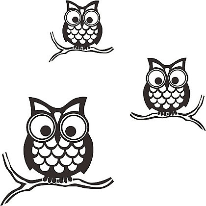 Image for Fine Decor Give A Hoot Stickers from StoreName