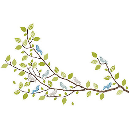 Image for Fine Decor Sitting in a Tree WallPops Wall Stickers from StoreName