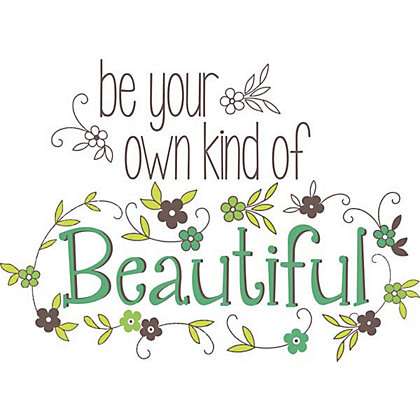 Image for Fine Decor Be Your Own Kind WallPops Wall Stickers from StoreName