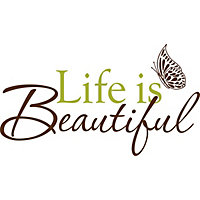 Life is Beautiful WallPops Wall Stickers