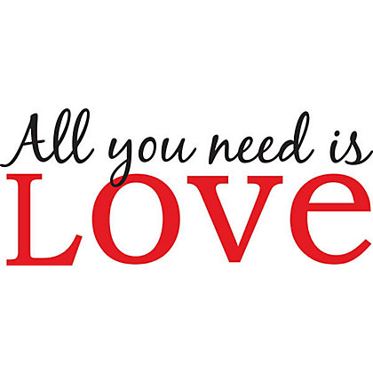 Image for All You need is Love WallPops Wall Stickers from StoreName