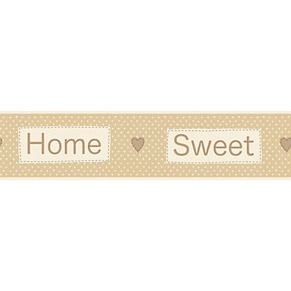 Image for Fine Decor Home Sweet Home Beige Border from StoreName