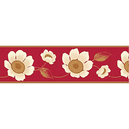 Image for Fine Decor Carissa Border - Red from StoreName