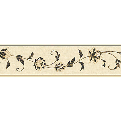 Image for Fine Decor Annabelle Border - Black & White from StoreName