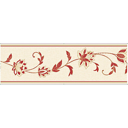 Image for Fine Decor Annabelle Red & White Border from StoreName