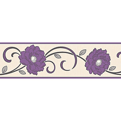 Image for Fine Decor Florentina Plum Border from StoreName