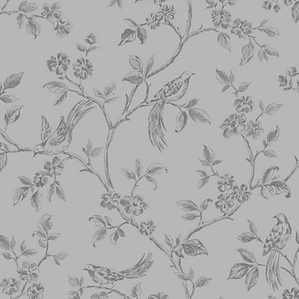 Image for Fine Decor Beatrice Wallpaper - Silver from StoreName