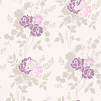 Fine Decor Claudia Wallpaper - Plum