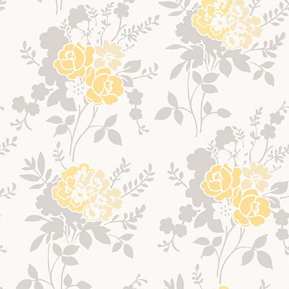 Image for Fine Decor Claudia Wallpaper - Yellow from StoreName