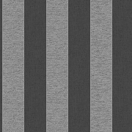 Image for Fine Decor Torino Stripe Wallpaper - Black from StoreName