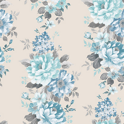 Image for Fine Decor Evie Wallpaper - Teal from StoreName